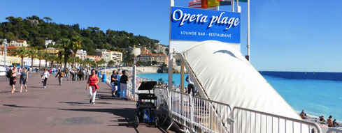Nice Cycles Tours Starting Point: Opera Plage