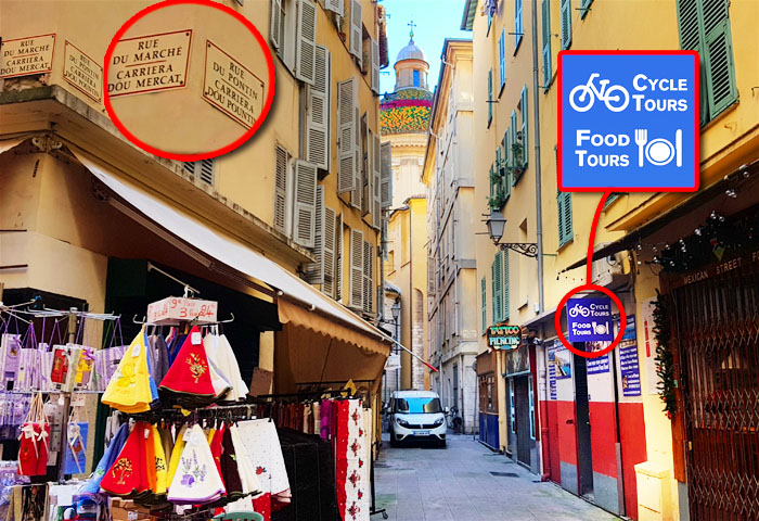 Food Tours of Nice starting point: our shop on 1 rue du Pontin